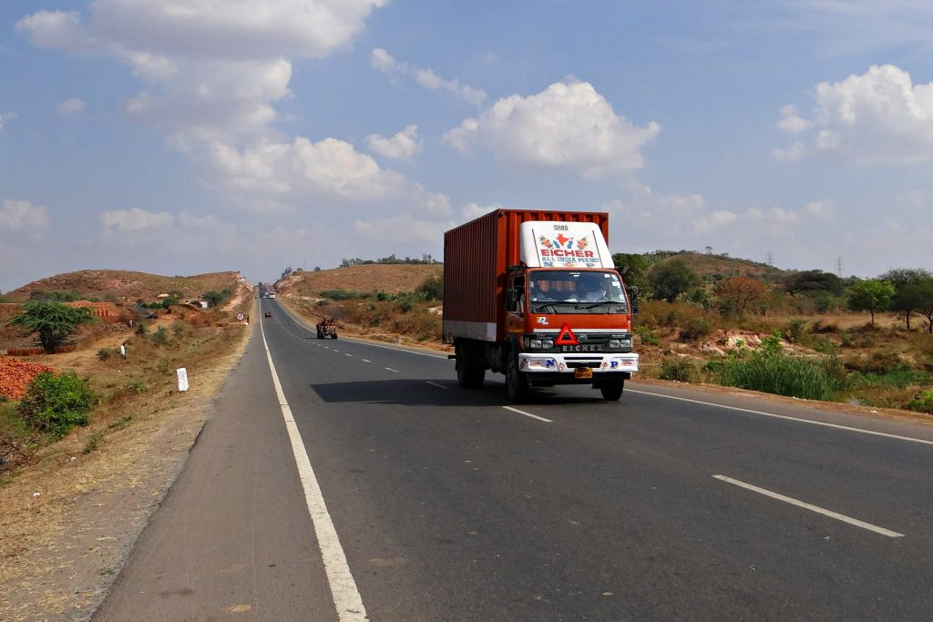 truck on Indian highway