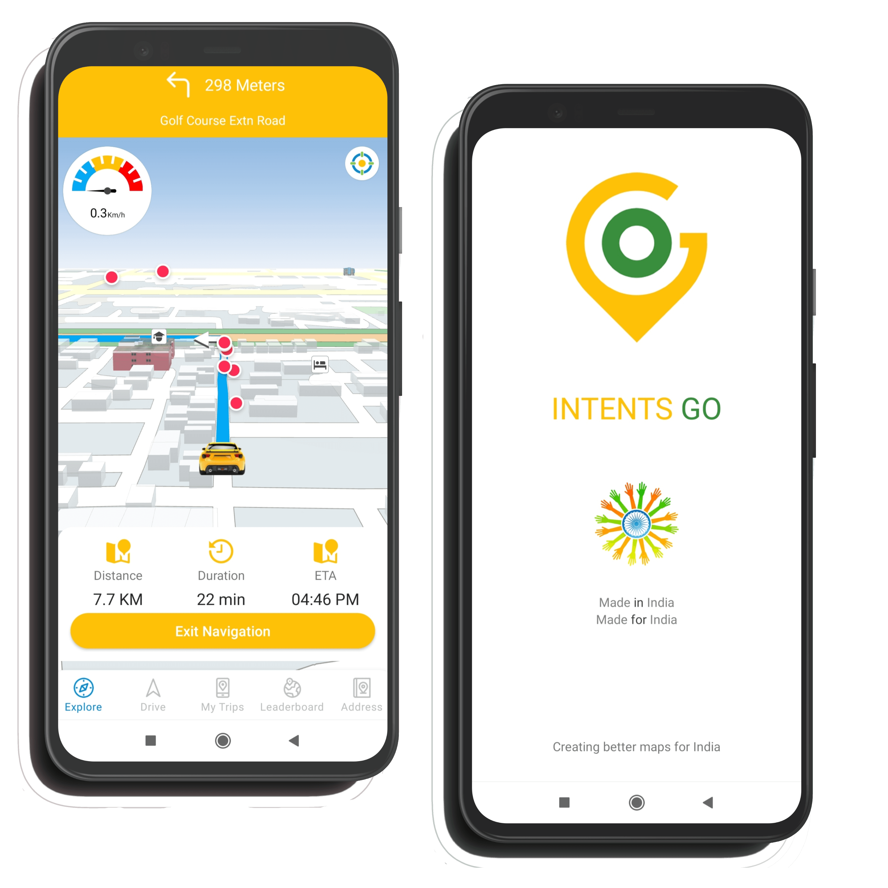 Intents Go - India's First App that knows road conditions